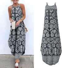 Женское платье макси без рукавов платья vonda с винтажным принтом