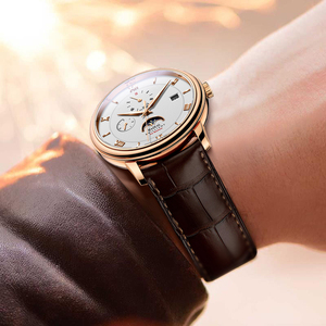 Image 3 - HAZEAL men automatic watches brand luxury self wind mechanical wristwatch watch dress mens montre homme with month week date