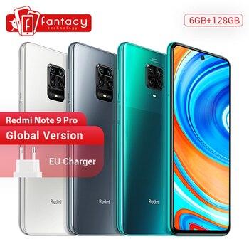 Купить Глобальная версия Xiaomi Redmi Note 9 Pro смартфон 6 ГБ 128 ГБ Snapdragon 720G 64MP Quad Cams 5020 мАч мобильные телефоны 30 Вт SuperCharge