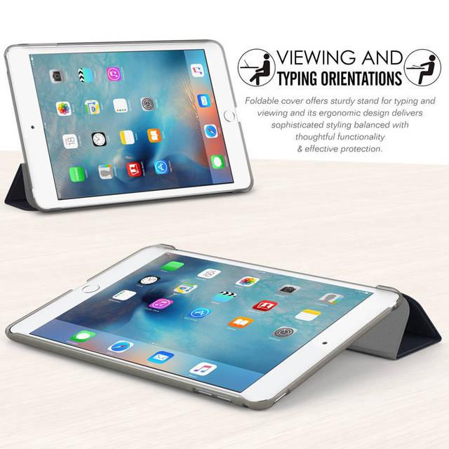 Funda QIJUN para iPad Mini 1 2 3 4 5 de 7,9 pulgadas, funda inteligente de cuero PU con soporte trasero, Fundas para iPad mini 1/ 2/3 mini5 2019, Auto Sleep
