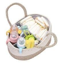 Cestos de armazenamento do berçário da fralda do bebê múmia transporte garrafa impermeável toalhetes molhados saco bolsa pram toalhetes organizador cestos de armazenamento