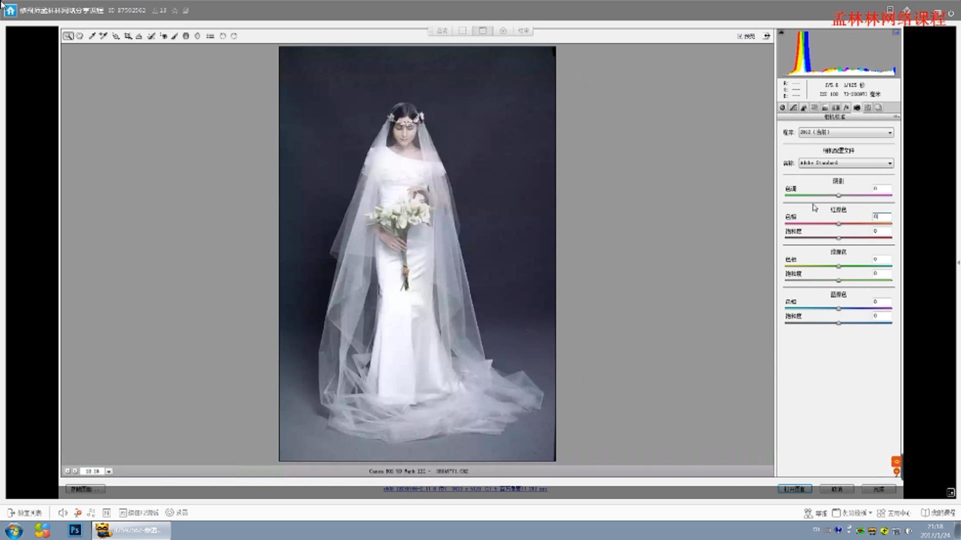 平面教程-修图师孟林林唯美PS韩式婚纱照调色教程 含素材(3)
