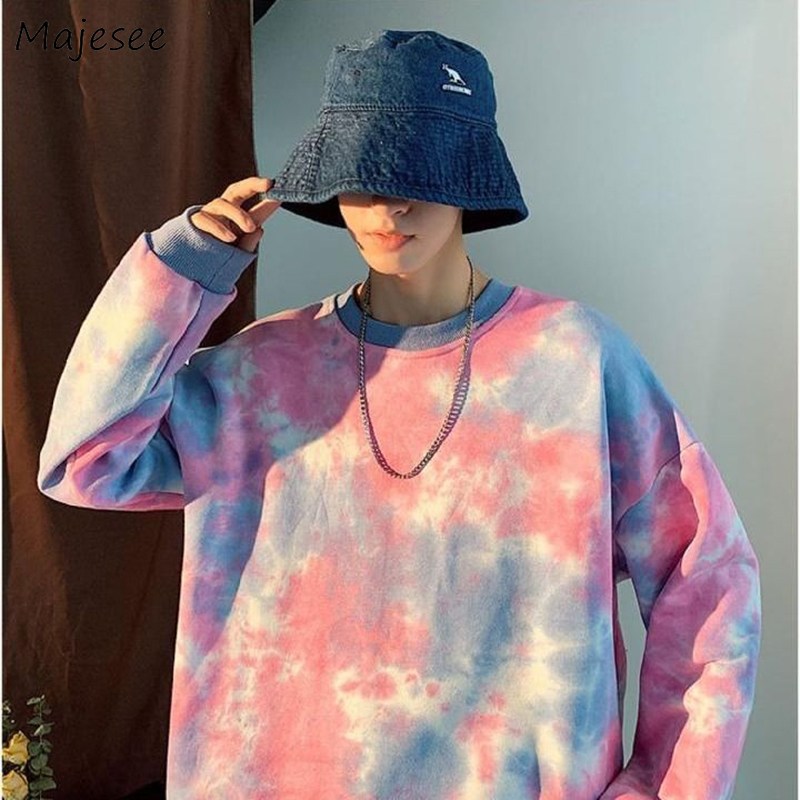 Hoodies Men Printed Harajuku Streetwear Korean Style Couples Plus Size 2XL Oversized Simple Casual Mens Pullover Chic Fashion