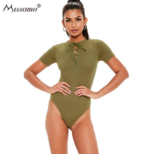 Missomo Slim-fit Strap Design Short-sleeved Jumpsuit