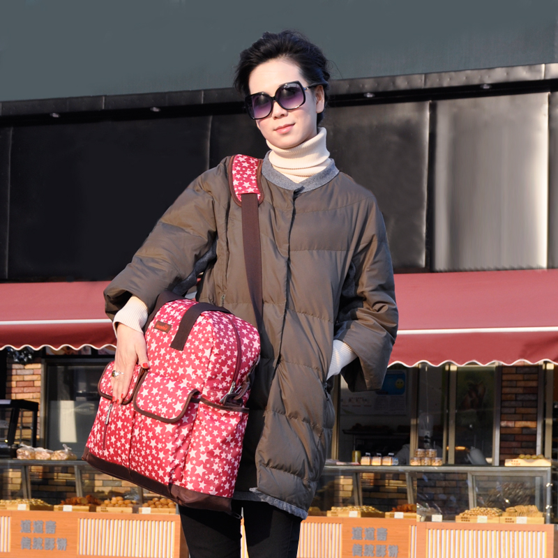 Multifunctional And Large Capacity Shoulder Mommy Bag Hand-held Maternal And Infant Articles Mommy Bag Backpack