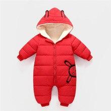 Rompers Coat Toddler Newborn Baby Winter Cotton Velvet Jumpsuit Thick-Down Hot-Sale Plus