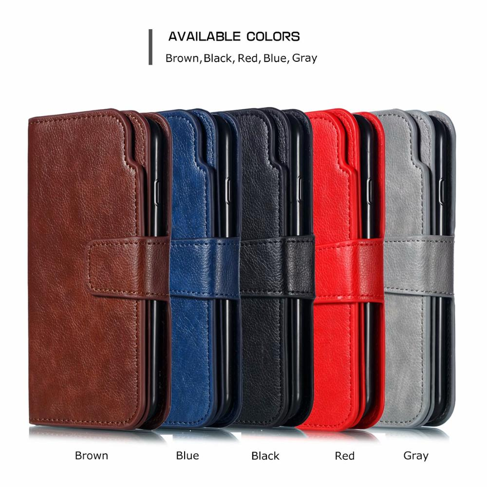 For <font><b>IPhone</b></font> 11 Pro Max XS Max XR X 7 8 6 6S Plus 5 <font><b>5SE</b></font> Wallet Multi Card Leather <font><b>Case</b></font> Flip Cover Magnet Business <font><b>Phone</b></font> Bag image