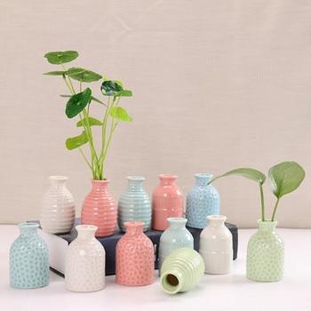 Wazony porcelanowe ceramiczne pulpit kwiat wazon na pączki kwiatów do wystroju domu biuro salon kawiarnia świeczniki mini ozdoby