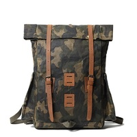 M321 Multi function Outdoor Backpack Large Capacity Mountaineering Bag Waxed Waterproof Camping Hiking Lee Shoulder Backpack New