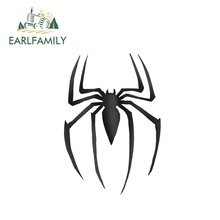 EARLFAMILY 13cm x Spider Car Stickers Fine Vinyl Surfboard JDM Motorcycle Waterproof Simple Deacls Occlusion Scratch