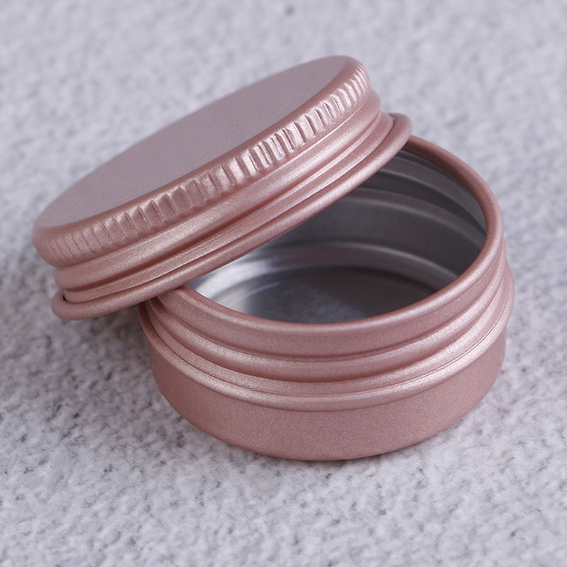 10pcs High Quality 10g Pink Empty Aluminum Pot Jars Cosmetic Containers With Lid Eye cream hair conditioner Tin Cosmetic Metal