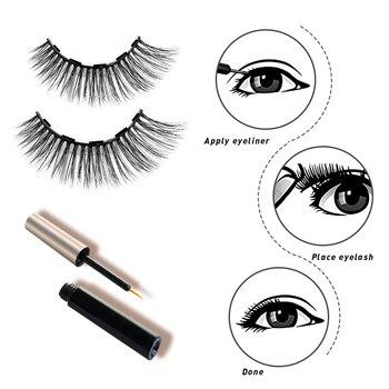 5 Magnet Eyelash Magnetic Eyeliner & Magnetic False Eyelashes & Tweezer Set 6 PCS Resuable Eyelashes Makeup Kit New Year Gift 2