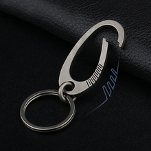 Oval Titanium Buckle EDC Outdoor Tool Keychain Waist Hang Key Ring