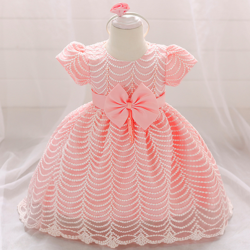 1-3T Cute Baby Flower Girl Dress Fashion Puffy Bow Flower Girl Dresses
