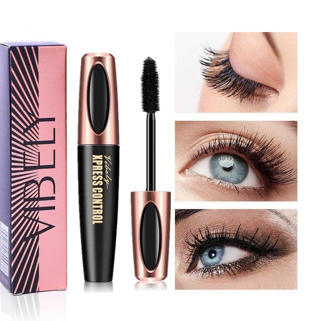 4D charm mascara roll waterproof mascara makeup silk graft growth liquid professional long curling waterproof eyelashes, black