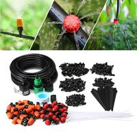 Micro Flow Drip Watering Irrigation Adjustable Misting Kits System Self Plant Garden Hose Automatic Watering Kits (15m pro)|Water Cans|Home & Garden -