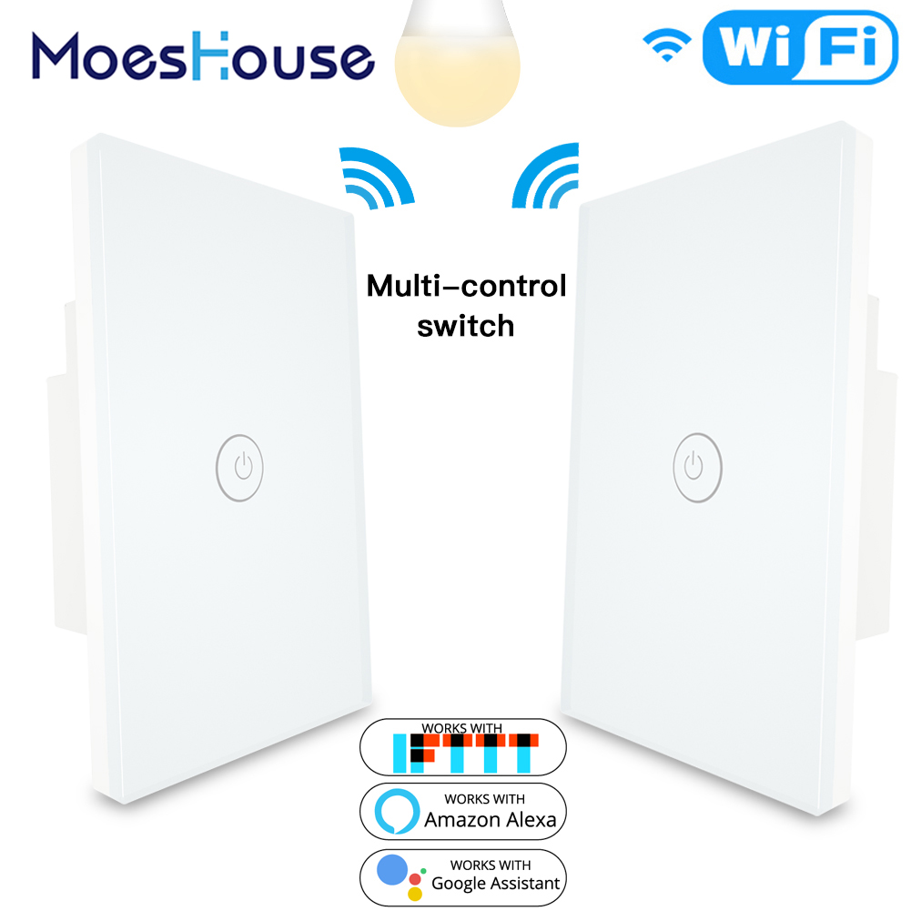 3 Way WiFi Smart Light Switch Smart Life/Tuya APP Remote Control Work With Alexa Google Home No Hub Required 2 Way