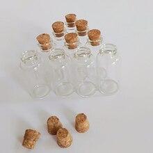 цена на 20ml Corked bottle tiny clear glass jar with cork lid wishing bottle 27*58mm empty glass vials 30pcs/lot