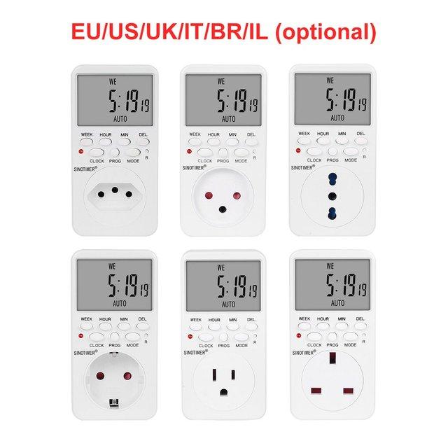 7 Days Compact Mechanical Power PRO Plug Timer Switch Socket 16A UK 220V-240V 1 Pack