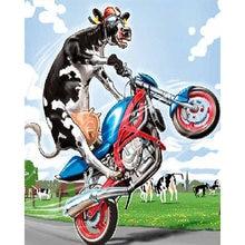 Diy картина по номерам корова Раскраска с рисунком «мотоцикл»