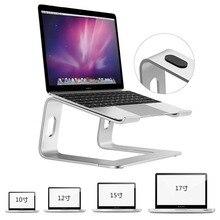 Besegad soporte portátil para ordenador portátil, soporte elevador de aleación de aluminio con refrigeración para Macbook Air Pro, ChromebookSoporte de ordenador portátil