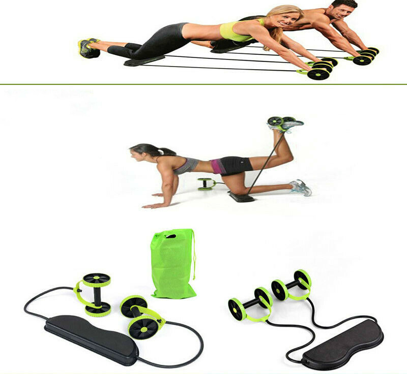 New Multifunctional Power Roll AB Trainer Waist Slimming Exercise Core Double Wheel Fitness