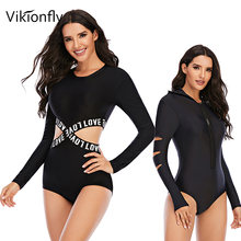 Vikionfly новинка 2020 спортивный Цельный купальник с длинным