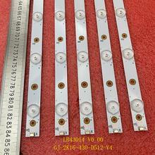 Nuevo 5 uds 12LED tira de LED para iluminación trasera para PHI 43PUS6551 43PUS6401 LB43014 V0_00 43PUS6501 43PUS6101 43PUS6201 TPT430U3 43PUH6101
