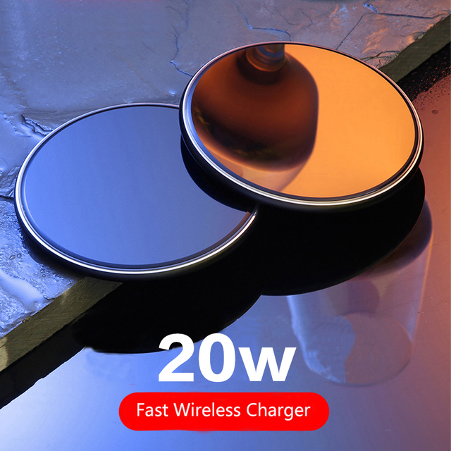 20W Fast Qi Wireless Charger For iPhone 12 11 Pro X/XS Max XR 8 Plus USB Wireless Charging Pad For Samsung S9 S10 S20 Note 9 8