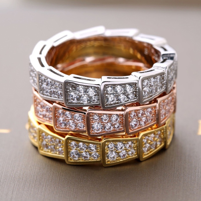 Hot Brand Gold Filled Jewelry For Women Men Crush Rings Silver Wedding Lozenge Rings Engagement Geometric Ring Gift High Quality