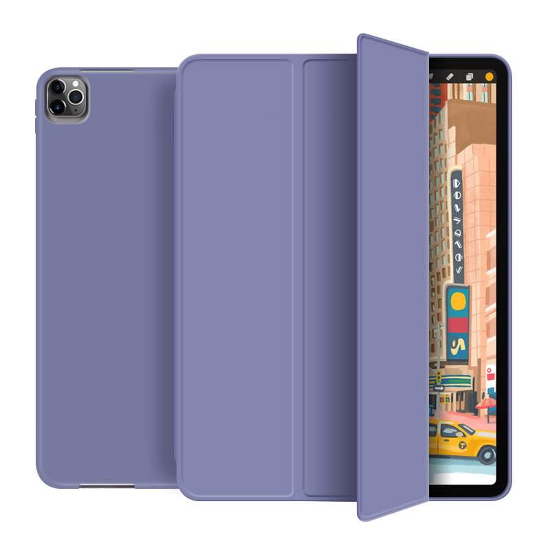 Lavender Green For New iPad pro 12 9 inch 2020 Smart case Tri fold soft bracket cover for