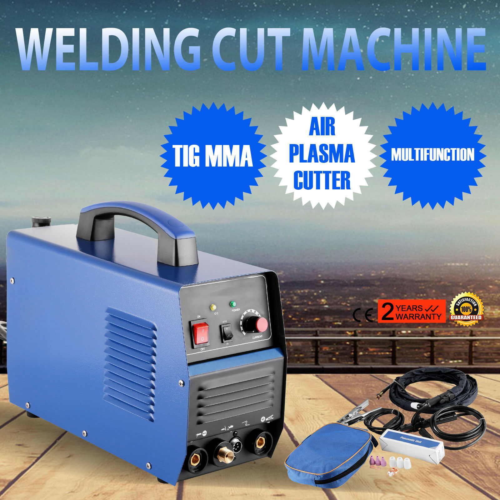 Welding Machine Inverter 3 In 1 Functional Plasma Cutter/TIG/MMA 30A/120A Welder