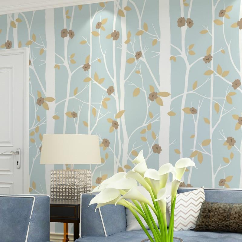 Fleur moderne papiers peints décor à la maison 3d papier peint branche arbre noir blanc Non tissé papier peint rouleau décoratif, chambre papier peint