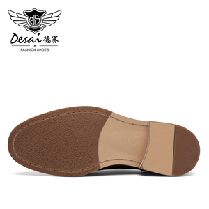 Image 2 - Desai Luxus Echtes Leder Männer Formale Schuhe Spitz Top Qualität Kuh Leder Oxford Männer Kleid Schuhe Größe