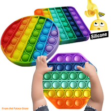 Push Pop Bubble Sensory Toy Autism Needs Squishy Stress Reliever Toys Adult Child Anti-stress Pop Toy Kids Gift Wedding Favors