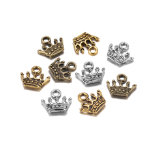 20pcs Tibetan Silver Gold 13x14mm Charms crown Pendants DIY Necklace Bracelet Earring Jewelry Making Supplies Handmade Craft 20pcs tibetan silver plated flower connector charms pendants for bracelet necklace jewelry making diy handmade craft 24x18mm