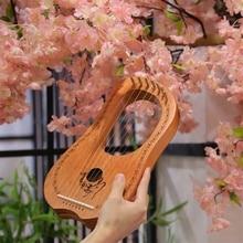 Andrew твердой древесины небольшой арфа 7/10/16 струны Малый инструмент портативный компактный арфа