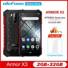 """Ulefone Armor X3 5.5"""" Rugged Smartphone Android 9.0 IP68 Quad core 2GB 32GB 5000mAh Rugged MT6580 Android 5V/1A 3G Mobile Phone"""