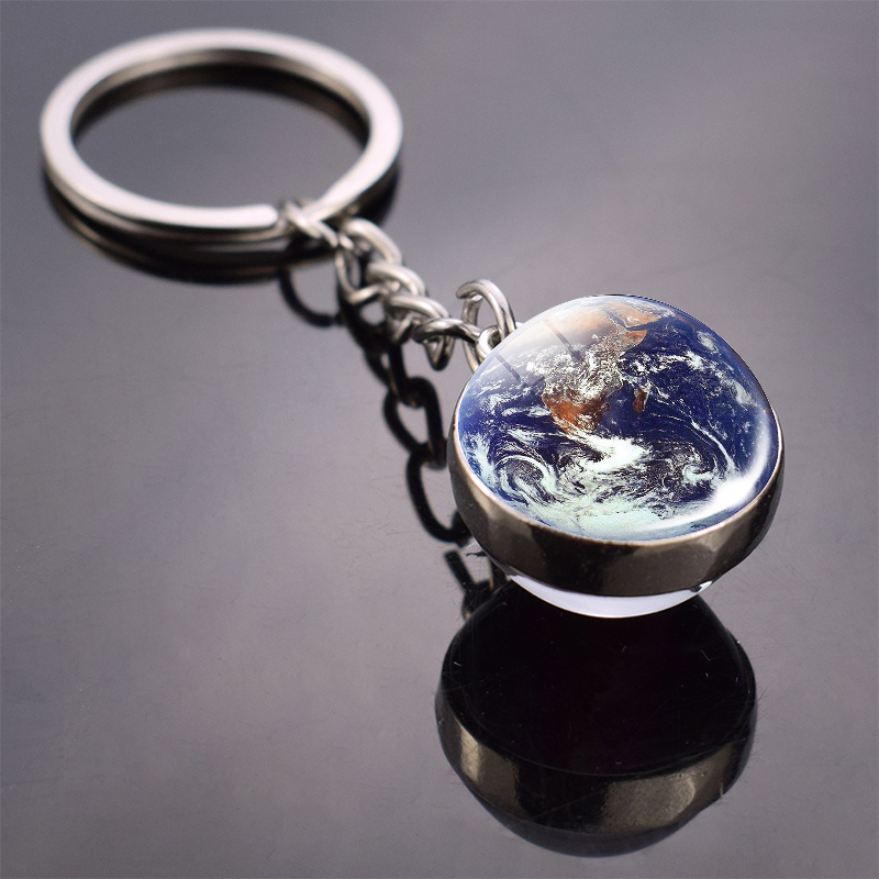Globe Earth World Map Keychain Keyring Glass Ball Vintage Spain France Poland Netherlands England Map Key Chain Ring Gifts