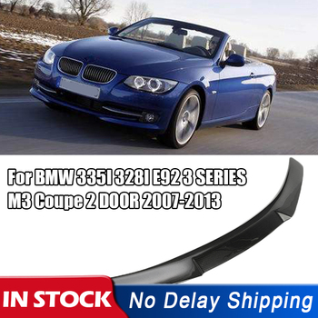 Car Rear Trunk Spoiler Wing Boot Lip Carbon Fiber For BMW 335I 328I E92 3 SERIES M3 Coupe 2 DOOR 2007-2013 image