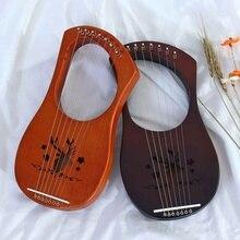 1 комплект 7-струны деревянная Лира Арфы металлическими струнами из красного дерева щит ручная гравировка оленей Колок