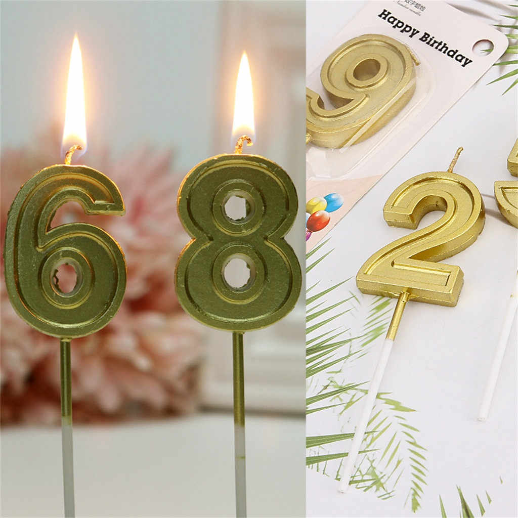 Funny Talking Tables Number Candles Gold Number 0 9 Birthday Party Candle Kids Baby Annivesary Wedding Party Decoration 2020 Candles Aliexpress