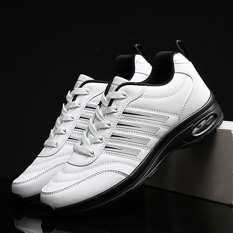 2020 Men Waterproof Golf Shoes Black White Sport Trainers for Golf Spikeless Sneakers Anti Slip Walking Shoes for Mens 1