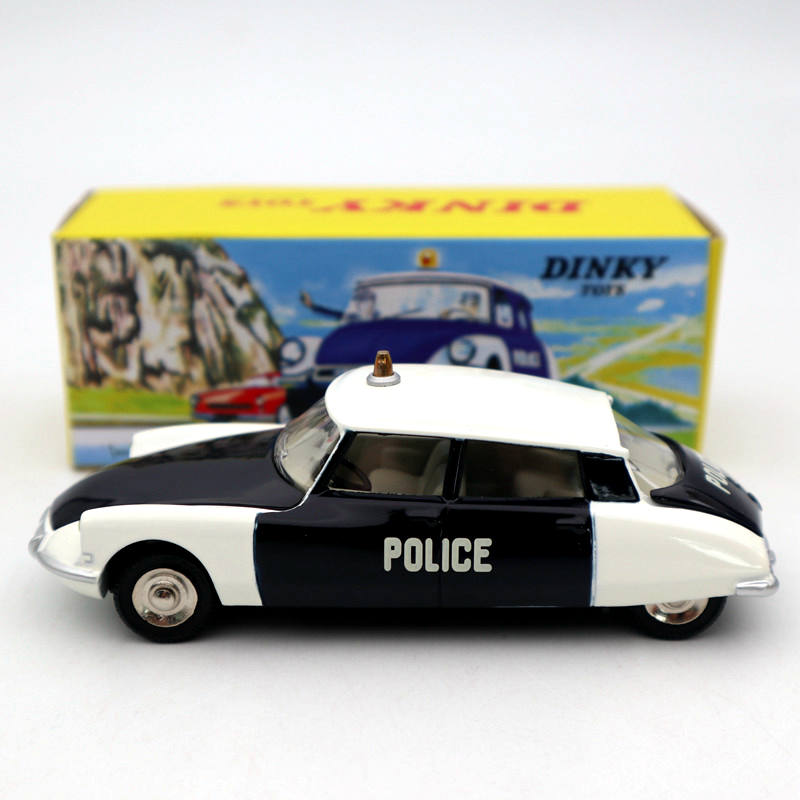 Atlas 1:43 Dinky Toys 501 Citroen DS 19 Police Models Diecast Collection Auto Gift