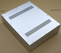 WA52 All aluminum amplifier chassis / Preamplifier case / AMP Enclosure DIY box (430 *92*340mm)