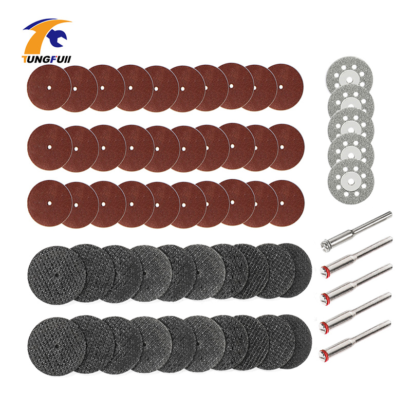 Tungfull Accessories 60Pcs Diamond Cutting Disc Woodworking For Dremel Mini Drills Grinding Circular Saw Blade Metalworking
