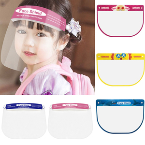 Transparent Face Shield Children Kids Full Face Mask Splash-proof Face Cover Dust-proof Protective Visor Cartoon Safety Masks(China)