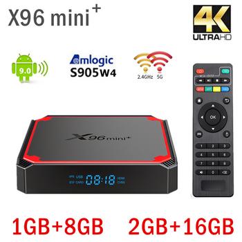 2021 nowy Android 9 0 X96 mini plus Smart TV BOX S905W czterordzeniowy dekoder WIFI 2 4G 5G dekoder 1GB 8GB 2GB 16GB Android box tanie i dobre opinie mankangmin 100 M CN (pochodzenie) AmlogicS90w4 8 GB eMMC 16 GB eMMC HDMI 2 0 1G DDR3 2G DDR3 0 4kg HDR10 DC 5 V 2A 4K @ 30 Hz
