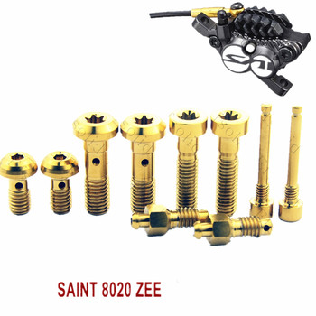 Titanium Screws for SAINT 8020 ZEE Brake Kit Screws Fixing linning FC Gold and Multiple Color Hexagon Head Ti fastener