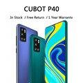 CUBOT P40 Smart Handys Hinten Quad Kamera 20MP Selfie 4200mAh NFC Telefon 4GB + 128GB 6,2 Zoll android 10 Dual SIM Karte 4G LTE